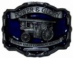 Traction Engine 'Power & Glory' Belt Buckle with display stand. Code CC8
